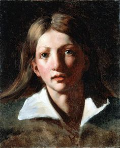 """The effects of light in the subject's flushed cheek, glossy hair, and gleaming eyes lend the work a liveliness and intimacy of characterization. Géricault's art was a starting point for the young Delacroix, who admired him deeply. 