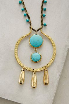 Sonali Turquoise Pendant Necklace - anthropologie.com