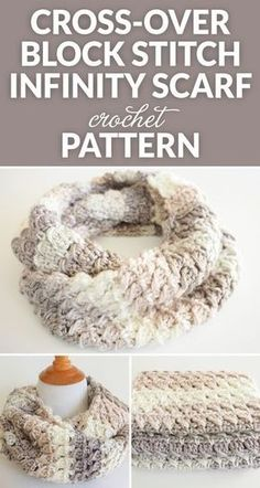 This Cross-Over Stitch Infinity Scarf is the perfect thing to for a special someone this keep you warm this winter: FREE crochet pattern