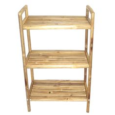 Bamboo Three-Tier Bath Shelf (Vietnam) | Overstock.com Shopping - Top Rated Bamboo54 Bathroom Shelving