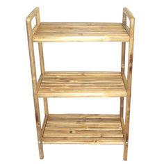 Bamboo Three-Tier Bath Shelf (Vietnam)   Overstock.com Shopping - Top Rated Bamboo54 Bathroom Shelving
