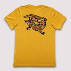 Southwestern US Rivers - T-Shirt / Mustard - 2XL