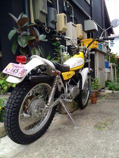 Trial Bike, Japanese Motorcycle, Vintage Bikes, Bike Stuff, Cool Bikes, Vintage Japanese, Trials, Cars And Motorcycles, Yamaha