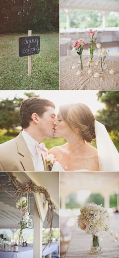 pale pink and white wedding (brown and tan accents)
