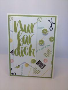 """Schöne Karte mit den Stempelssets """"Aus der Kreativkiste"""" und """"Blumen für dich"""""""