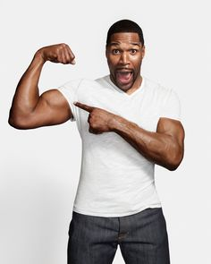 Michael Strahan continues to surprise with the possibility he will now join Good Morning America. Strahan is slated to stay on Live! With Kelly and Michael. Celebrity Beauty, Celebrity Crush, Celebrity News, Michael Strahan, Handsome Black Men, Good Morning America, Celebs, Celebrities, Famous Faces