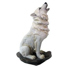 Nemesis Now - Storms Cry Wolf Figurine Gothic Fantasy Art, Fantasy Wolf, Imprimente 3d, Wolf Sculpture, Animal Sculptures, Abstract Wolf, Wolf Stuff, Antler Art, Art Carved