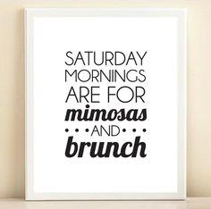 Saturday Mornings Print