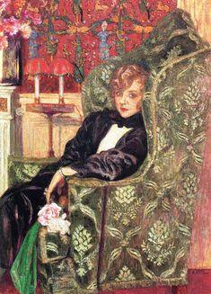 The Athenaeum - VUILLARD, Édouard French Nabi,Post-Impressionist (1868-1940)_Portrait of Yvonne Printemps - 1921