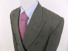 Cellini Linea Uomo Double Breasted Plaid Blazer Jacket Sport Coat sz 44 L #LineaUomo #DoubleBreasted