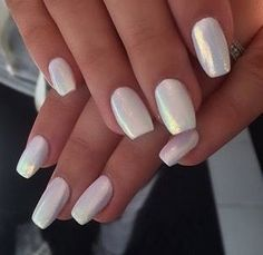 Pearly White - The Prettiest Wedding Nails For Your Big Day - Photos