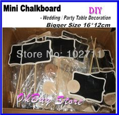 30pcs* 16x12cm Larger Wooden Chalkboard Stands -Table Numbers -Name Tags - Black tags -Wedding Signage - Buffet Props - Settings US $71.68