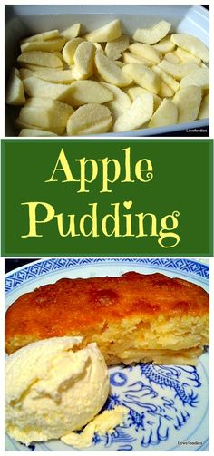 Eves (Apple) Pudding Cake - A lovely dessert, easy to make and wonderful served warm or cold with ice cream or custard. Try it!