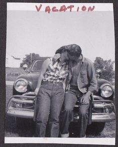 theniftyfifties:  A kissing couple, 1950s