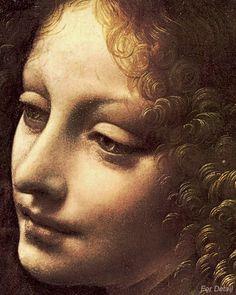 "The Angel in ""Virgin of the Rocks"" by Leonardo Da Vinci"