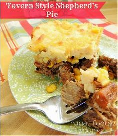 Tavern Style Shepherd's Pie is a hearty and easy shepherd's pie recipe packed with beef, carrots, corn, potatoes, cheese, and more. Beer mak...