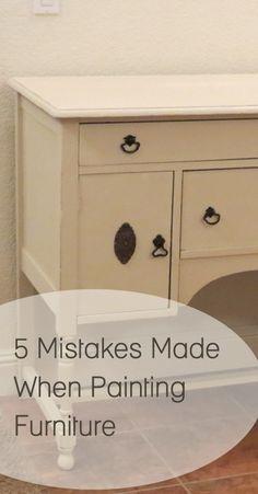 Mistakes People Make Painting Furniture.
