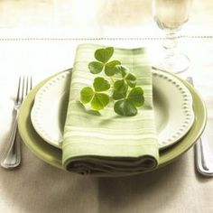 Irish Wedding Traditions.  Lucky place setting.