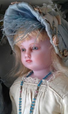 Ellinor, A Poured English wax doll (Likely made by Pierotti. Her body carries the stamp of Pantheon Bazar, London), ca 1850