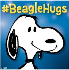 Snoopy's on twitter giving #BeagleHugs