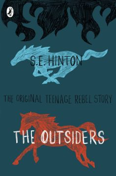 "Book Cover Design by Tree x Three of S.E. Hinton ""The Outsiders"""