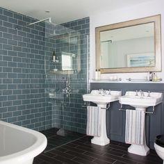 IH Nov 17 p134 Grey bathroom with Victorian-style fittings