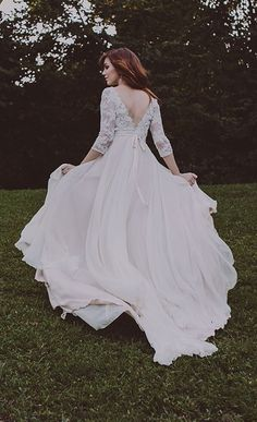Handcrafted wedding gowns by Rebecca Schoneveld.