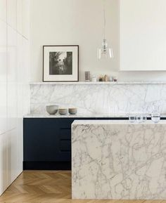 46 Most Popular Modern Kitchen Design Ideas. Why do you need modern kitchen design ideas? It can be very easy to have a home and decorate it. Best Kitchen Designs, Modern Kitchen Design, Interior Design Kitchen, Marble Kitchen Interior, Modern Design, Luxury Kitchens, Cool Kitchens, Coastal Kitchens, New Kitchen