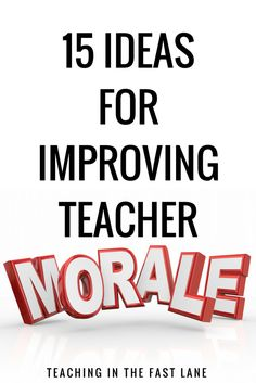 Teacher morale is an important part of the school community. Teachers are unique, we are used to fending for ourselves, and pulling ourselves out of even the deepest of funks. This doesn't mean we don't like a little morale booster from time to time. School Leadership, Educational Leadership, School Counseling, Leadership Activities, Educational Technology, Educational Administration, Counselor Office, Educational Activities, Teacher Morale