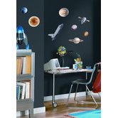 Found it at AllModern - 24-Piece Space Travel Peel and Stick Wall Sticker