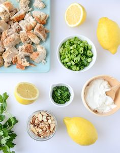 lemon almond roast chicken salad I howsweeteats.com
