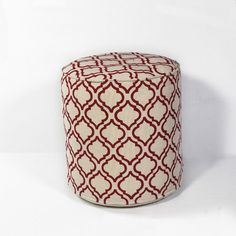 Arabesque Pouf Ottoman Color: Ivory/Red - http://delanico.com/ottomans/arabesque-pouf-ottoman-color-ivoryred-588822084/