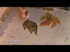 Not English but very nice to watch her blend colors.  Clear gutta. Pintura en…