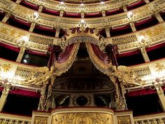 San Carlo Theater, one of the oldest opera houses in the world. Opened in 1737
