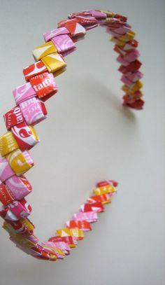 Have you ever made a starburst wrapper bracelet?!