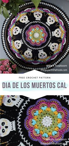 Free Crochet Doily Patterns, Crochet Doilies, Free Pattern, Halloween Crochet, Holiday Crochet, Crochet Hooks, Knit Crochet, Crochet Things, Halloween Table Decorations