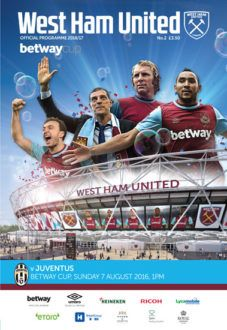 West Ham v Juventus programme cover Mark Noble, West Ham United Fc, That Way, The Unit, Football, Cover, Soccer, Futbol, American Football