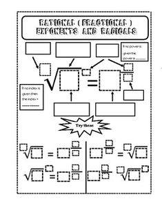 Rational Exponents Mazes | Maze, Algebra, Math