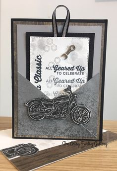 Stampin' Up! - Geared Up Garage - Stampin' Up! - Geared Up Garage - Masculine Birthday Cards, Birthday Cards For Men, Handmade Birthday Cards, Masculine Cards, Cards For Men Handmade, Male Birthday, Funny Birthday, Birthday Wishes, Happy Birthday