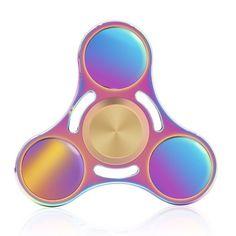 Cool fidget spinners: Ribbon hued Meisus titanium spinner