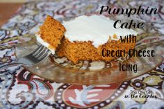 Easy Pumpkin Cake with Cream Cheese Icing
