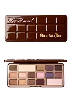 Just got this and I'm OBSESSED!!!!..It even smells like chocolate!!! Too Faced Chocolate Bar palette...