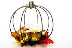 Fall Centerpiece  Fall Table Decor  Pumpkin by AshleyRCreations