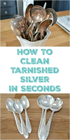 How To Clean Silver and Remove Tarnish in seconds with no harmful chemicals. via @Mom4Real
