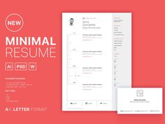 Free clean minimal curriculum vitae template in multiple file gormat. This set great for any job opportunity and vailable in PSD, AI and DOC file format. Best Free Resume Templates, Resume Design Template, Cv Template, Print Templates, Design Resume, Design Templates, Simple Resume, Creative Resume, Creative Design