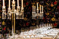 Crystal Candelabra at St George's Restaurant Photo by Crystal Candelabra, Restaurant Photos, St George's, Wedding Hire, Saint George, Real Weddings, Chandelier, Glamour, Ceiling Lights