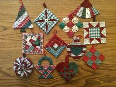 christmas folded fabric flat star pattern | ... ://www.etsy.com ...