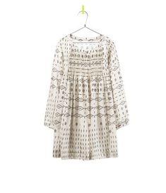 16cf1f61b5c7f geometric print dress for schooners    zara