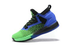 Free Shipping Only 69$ adidas D Lillard 2 Primeknit Royal Green Black