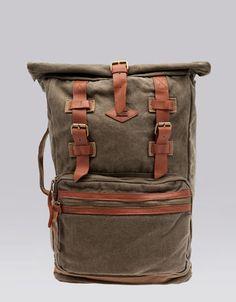 Rucksack mit Leder-Details